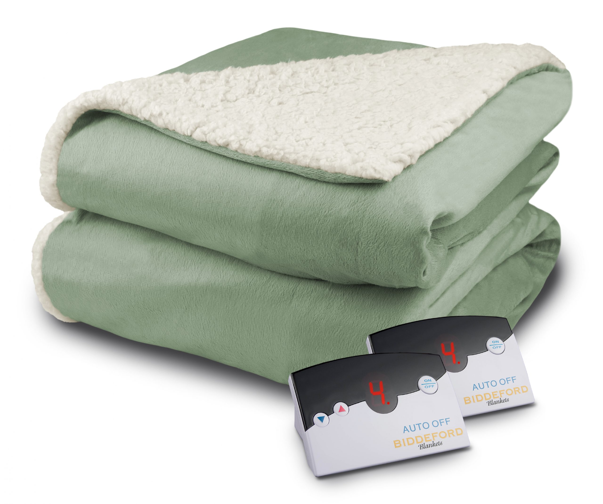 Biddeford Heated Micro Mink Sherpa Blanket